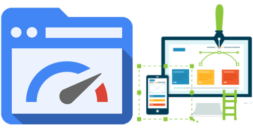 Flat web designs are robust and fast with low load time