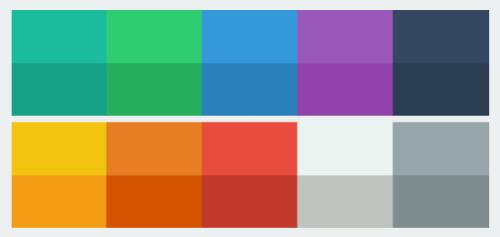 Flat Web Design Offers Diverse Color Palettes