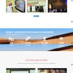 Smart Learning Program - Responsive Website Screenshot - Homepage