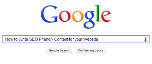 How to write SEO Friendly Content for your Website?